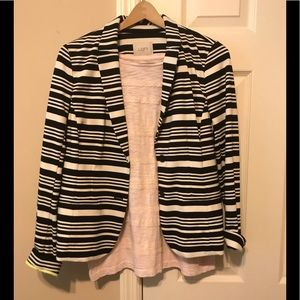Sell as Combo-stripe Blazer and light weight tee